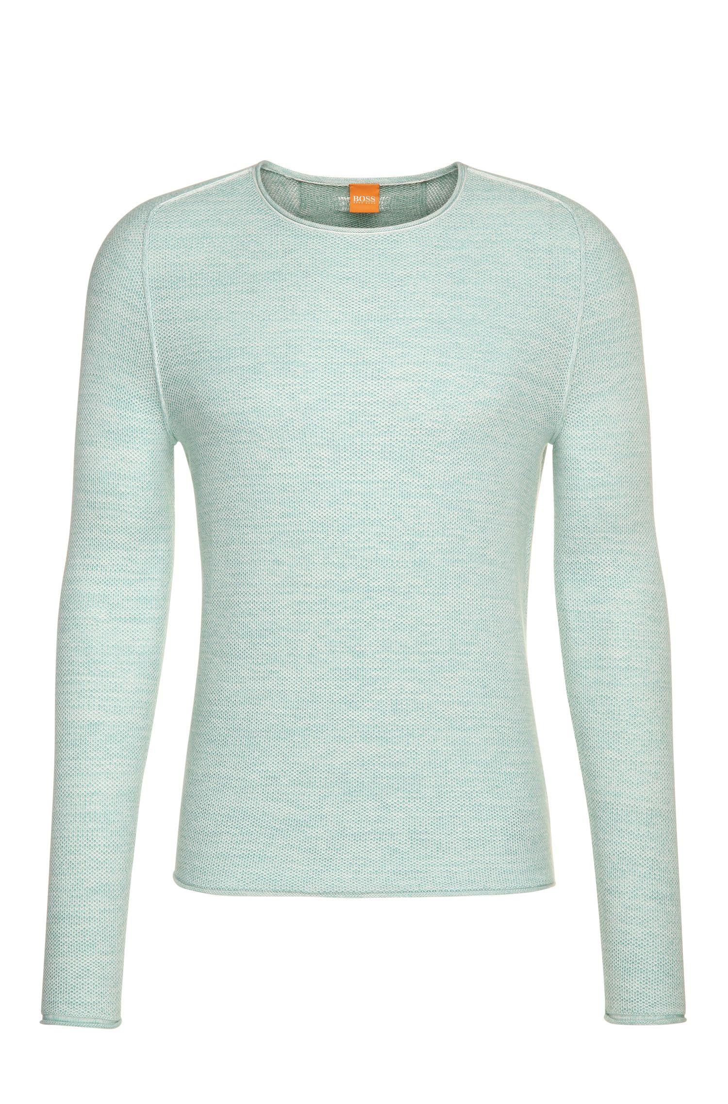 Jersey llamativo de punto en mezcla de algodón con viscosa y seda: 'Akmerso'