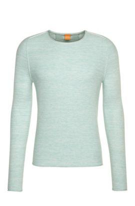 Effektvoller Strick-Pullover aus Baumwoll-Mix mit Viskose und Seide: ´Akmerso`, Türkis