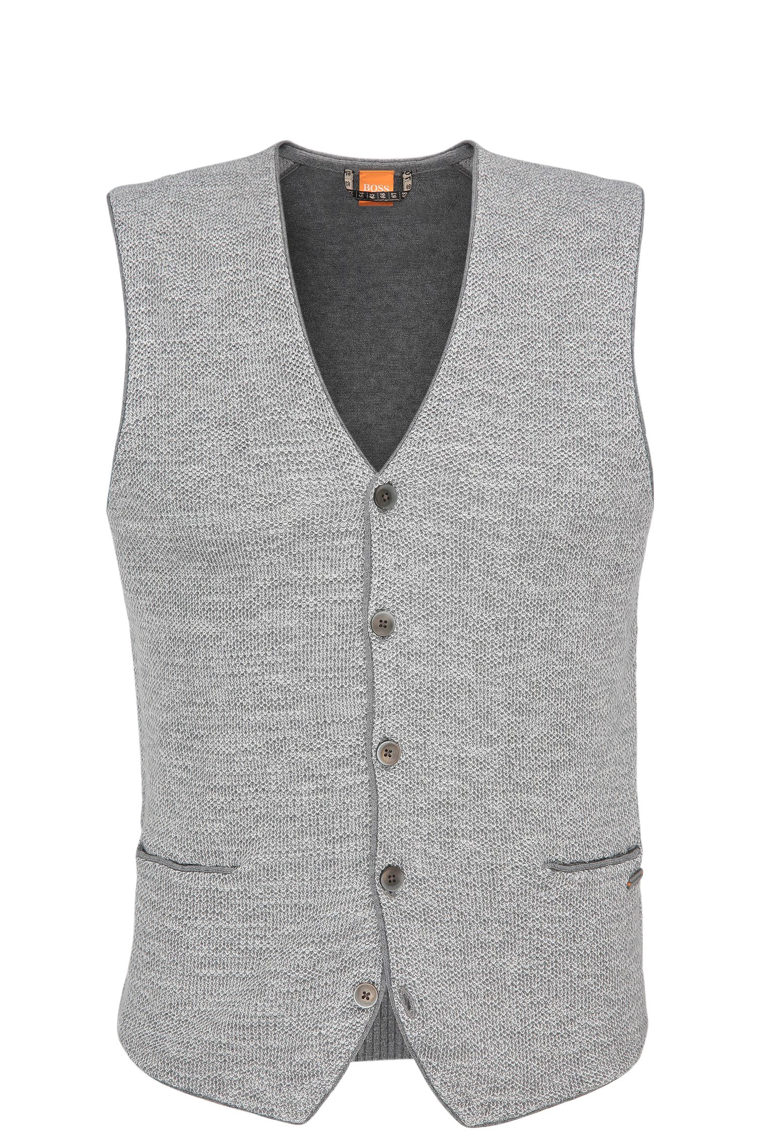 Jersey waistcoat in cotton blend with viscose and silk: 'Alvilet'