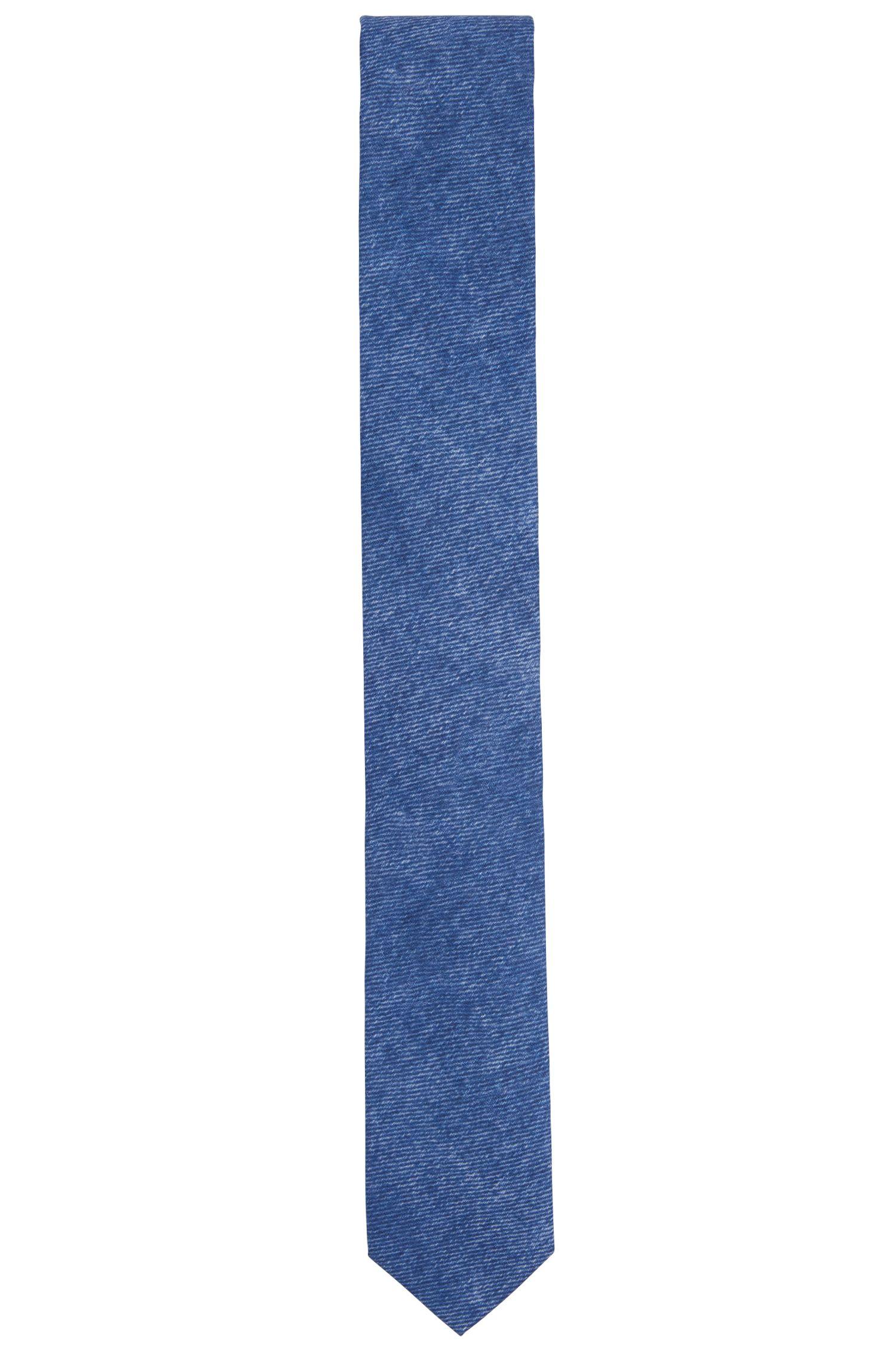 Mottled tie in cotton: 'Tie 6 cm'