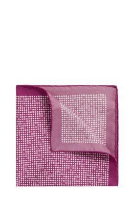 Patterned pocket square in pure silk: 'Pocketsquare 33x33cm', Purple