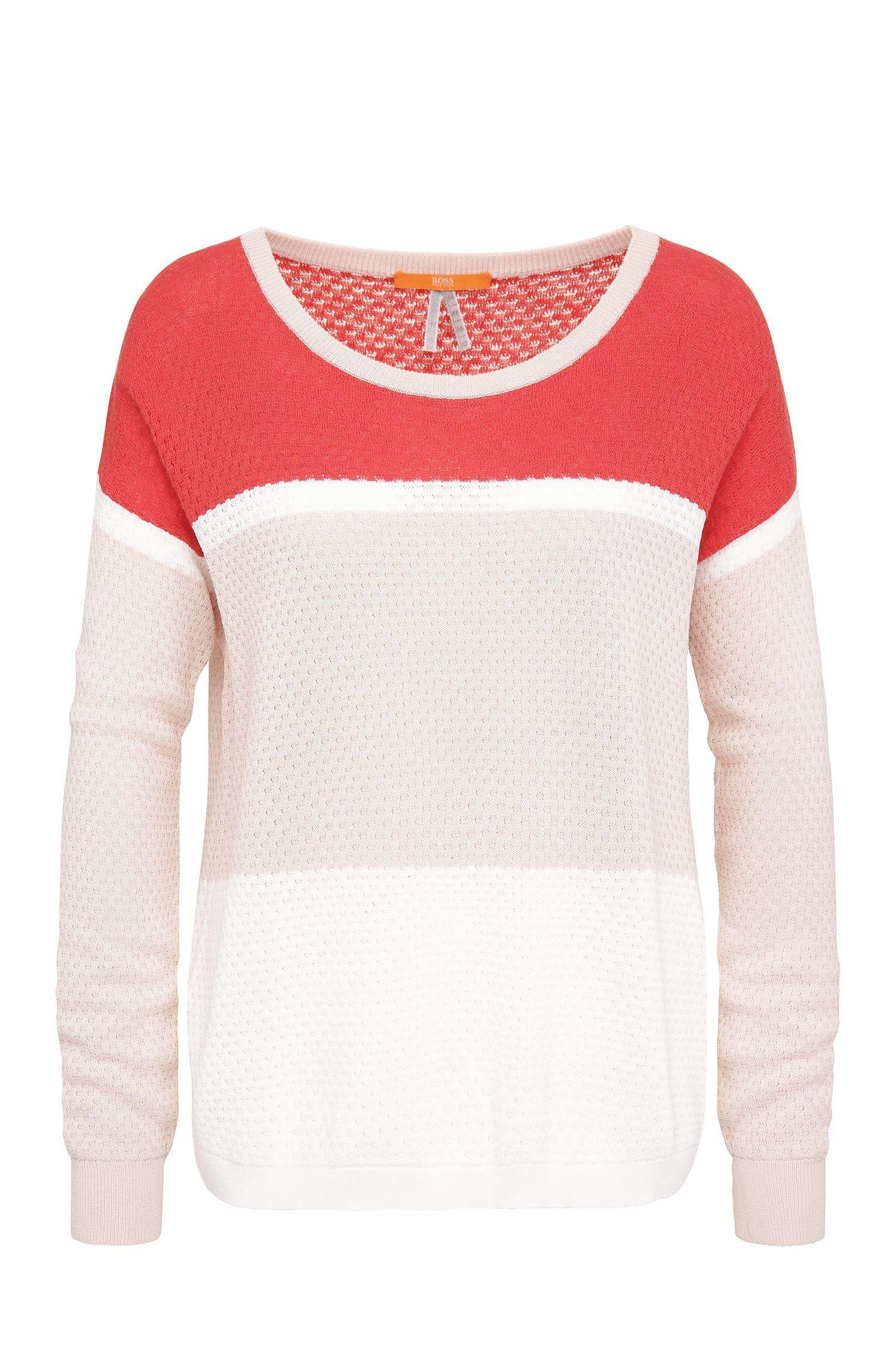 Oversized-fit trui van fijngebreid materiaal: 'Waylee'