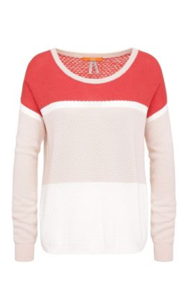 Oversized-fit fine knit sweater: 'Waylee', Red