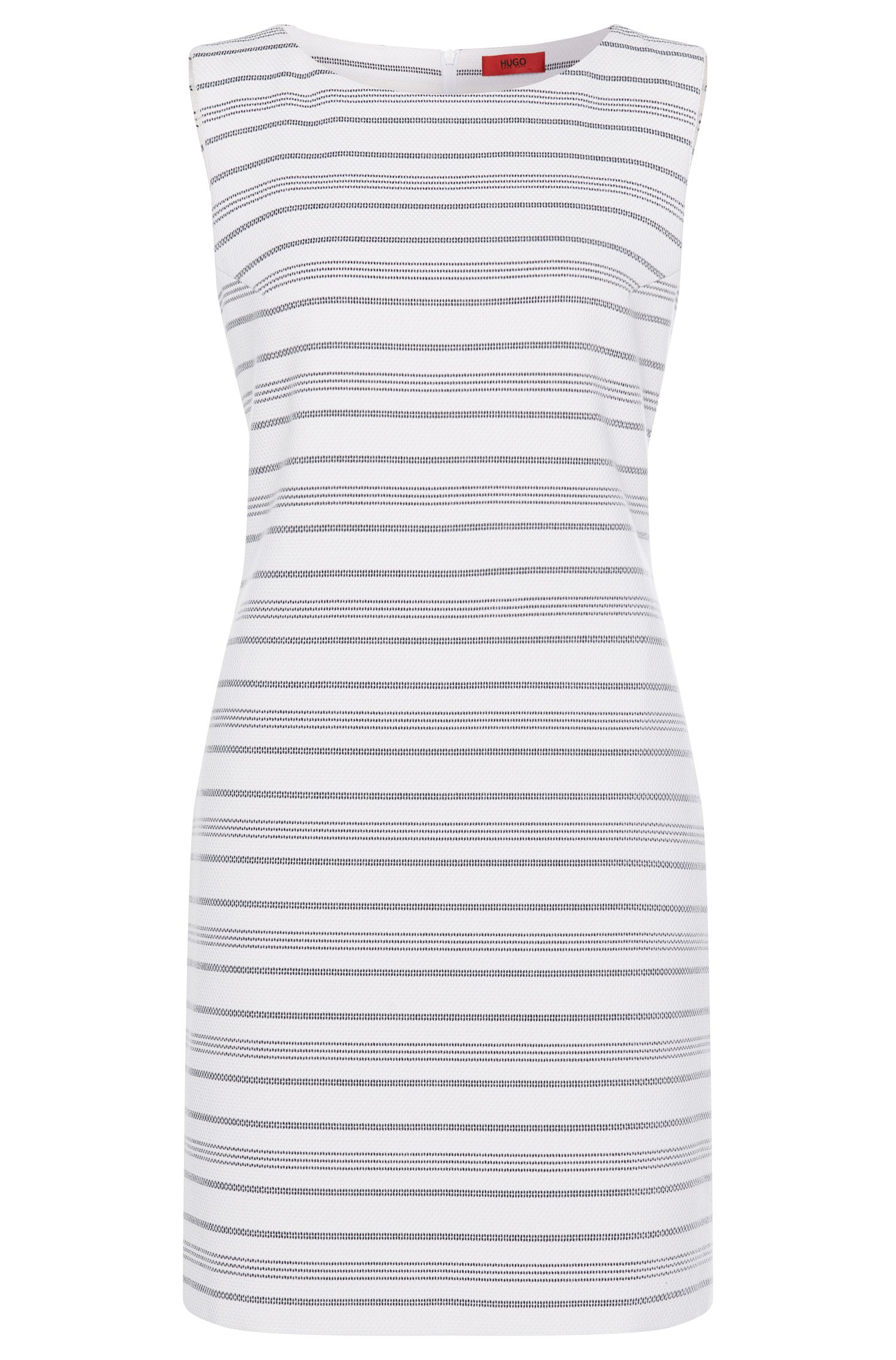 Striped sheath dress in cotton blend: 'Katisa-2'