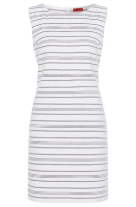 Striped sheath dress in cotton blend: 'Katisa-2', Patterned