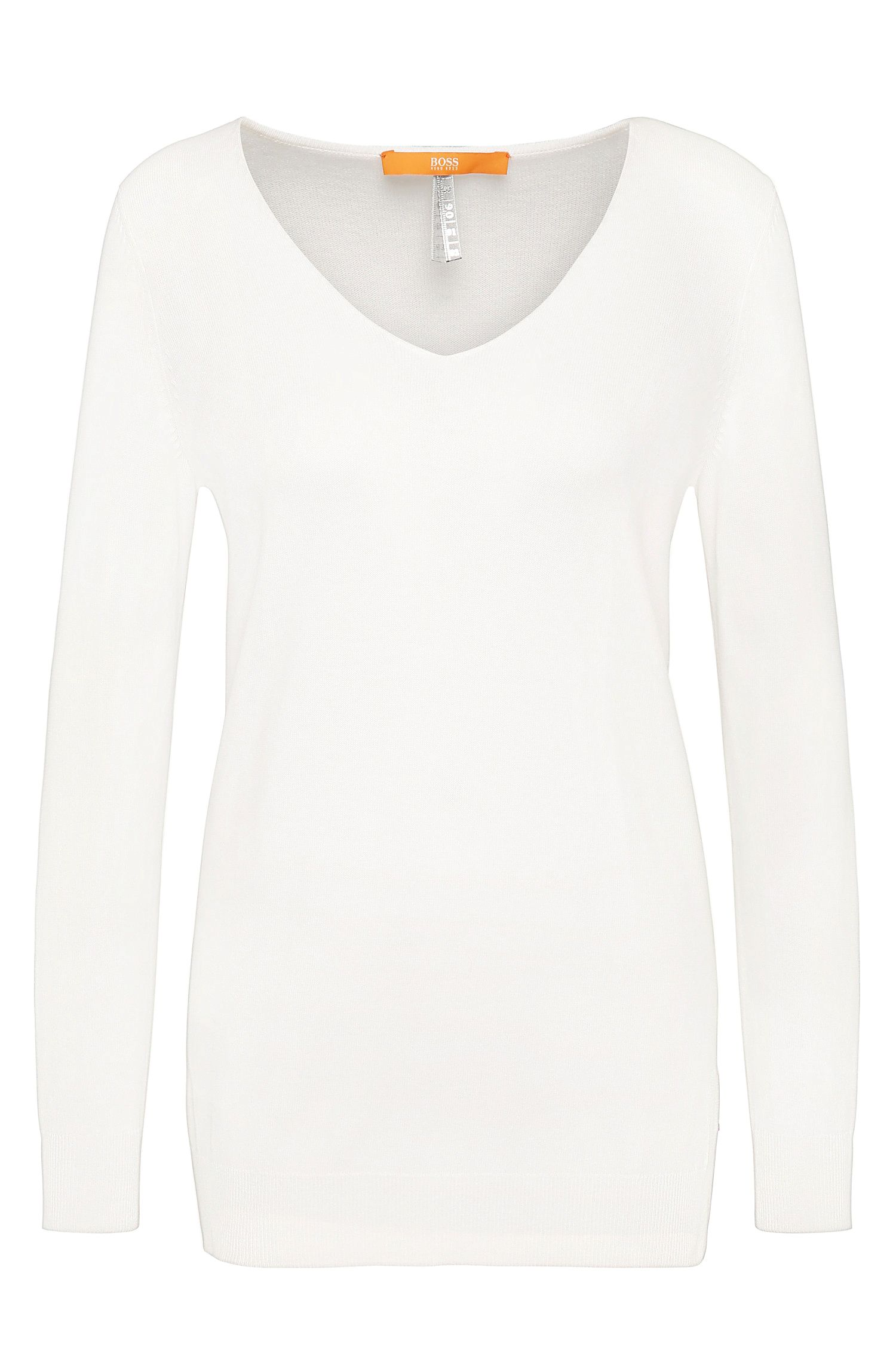 Pullover in maglia relaxed fit in misto viscosa: 'Wasmyn'