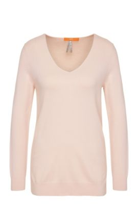 Pull en maille Relaxed Fit en viscose mélangée : « Wasmyn », Rose clair