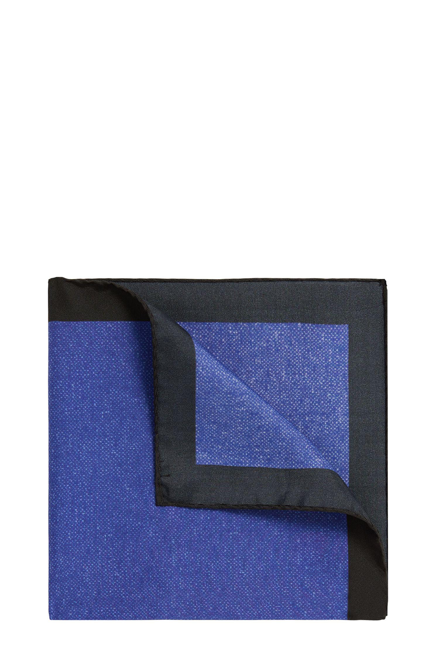 Pochette bicolore en soie: «Pocketsquare 33x33cm»