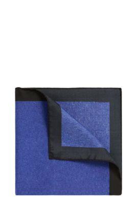 Zweifarbiges Einstecktuch aus Seide: 'Pocketsquare 33x33cm', Blau