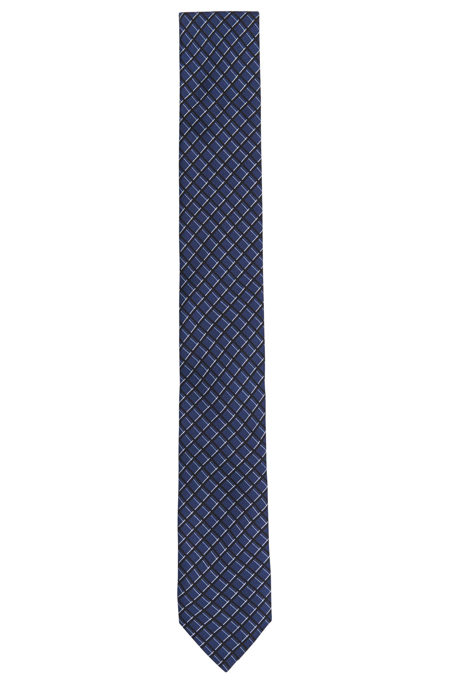 Patterned silk tie: 'Tie 6 cm'