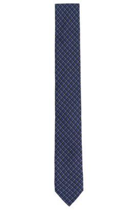 Patterned silk tie: 'Tie 6 cm', Blue