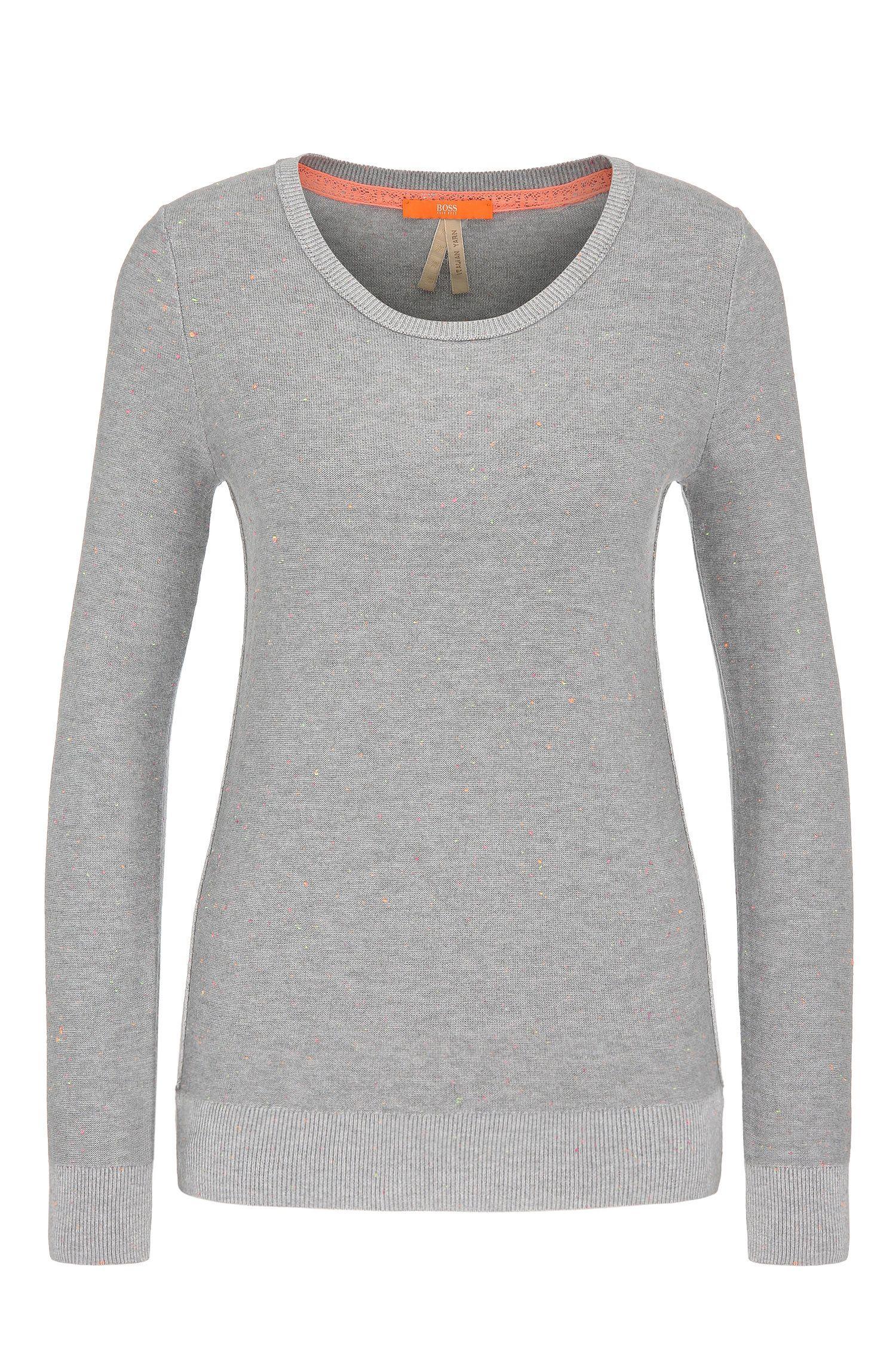Gebreide regular-fit trui van een katoenmix met viscose: 'Wiennale'