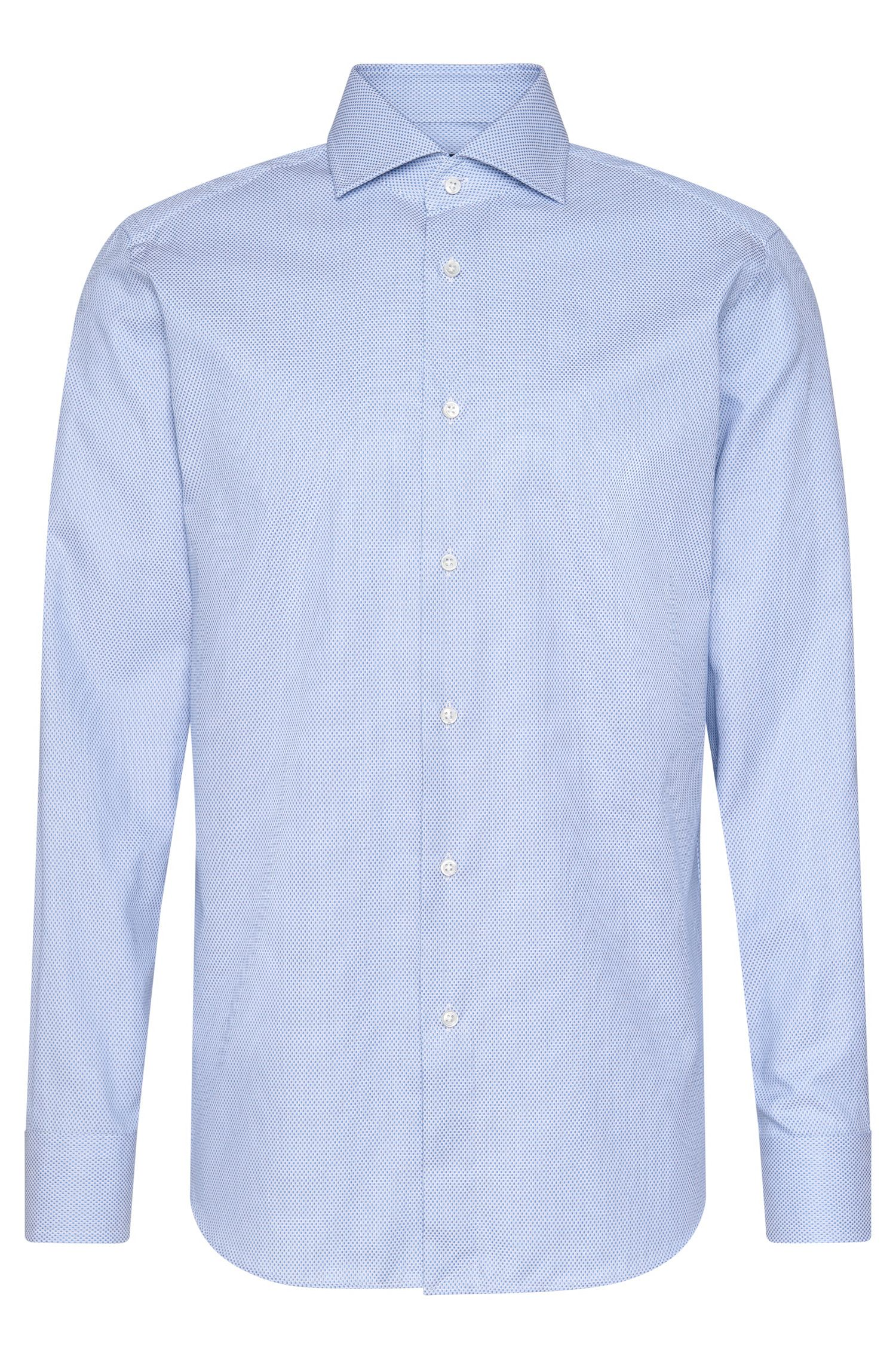 Chemise en coton Regular Fit Tailored à motif : « T-Stenson »