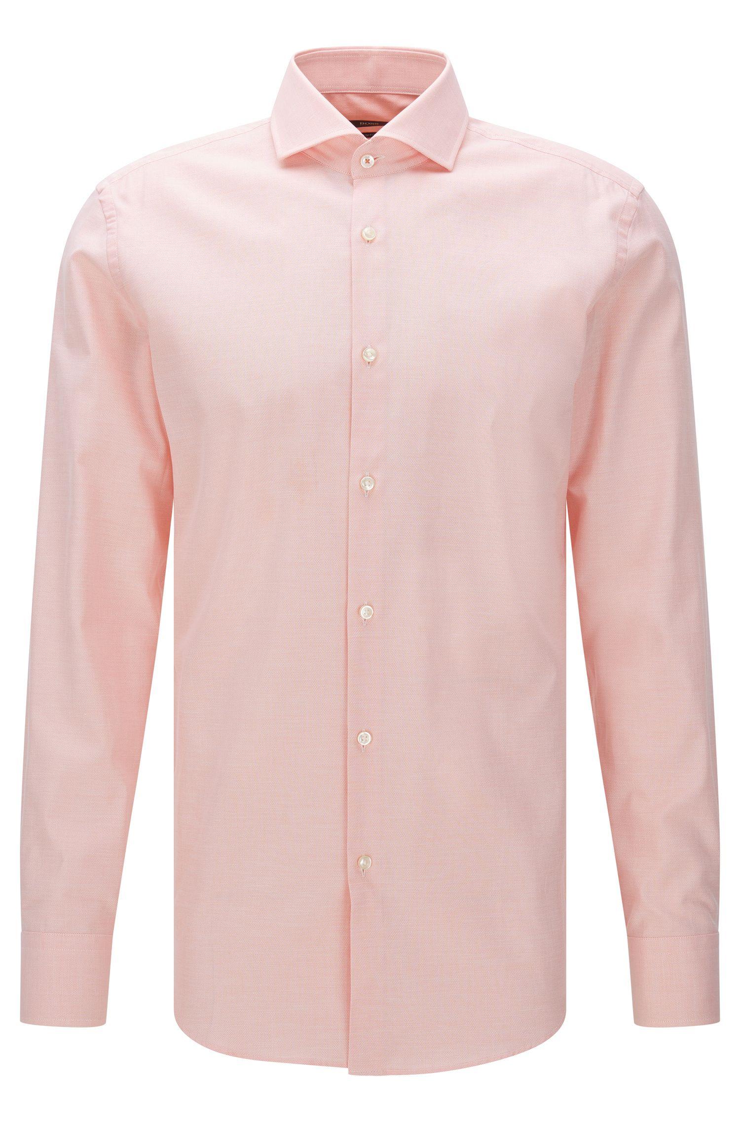 Camisa slim fit con estampado fino en algodón: 'Jerrin'