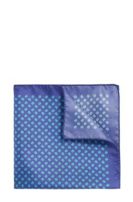 Pañuelo de bolsillo estampado en seda: 'Pocketsquare 33x33cm', Verde