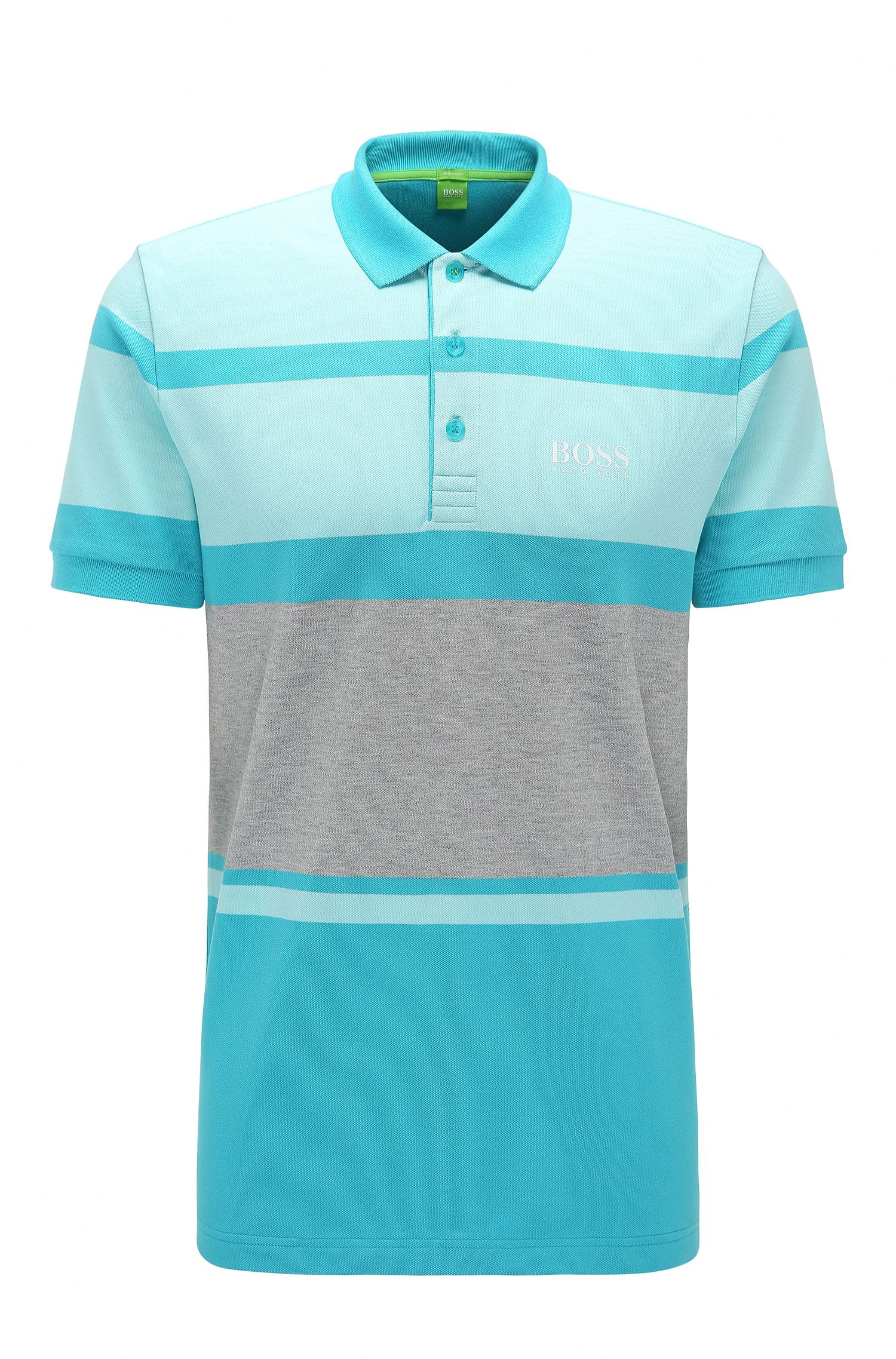 Polo Regular Fit en coton stretch à rayures : « Paddy Pro 1 »