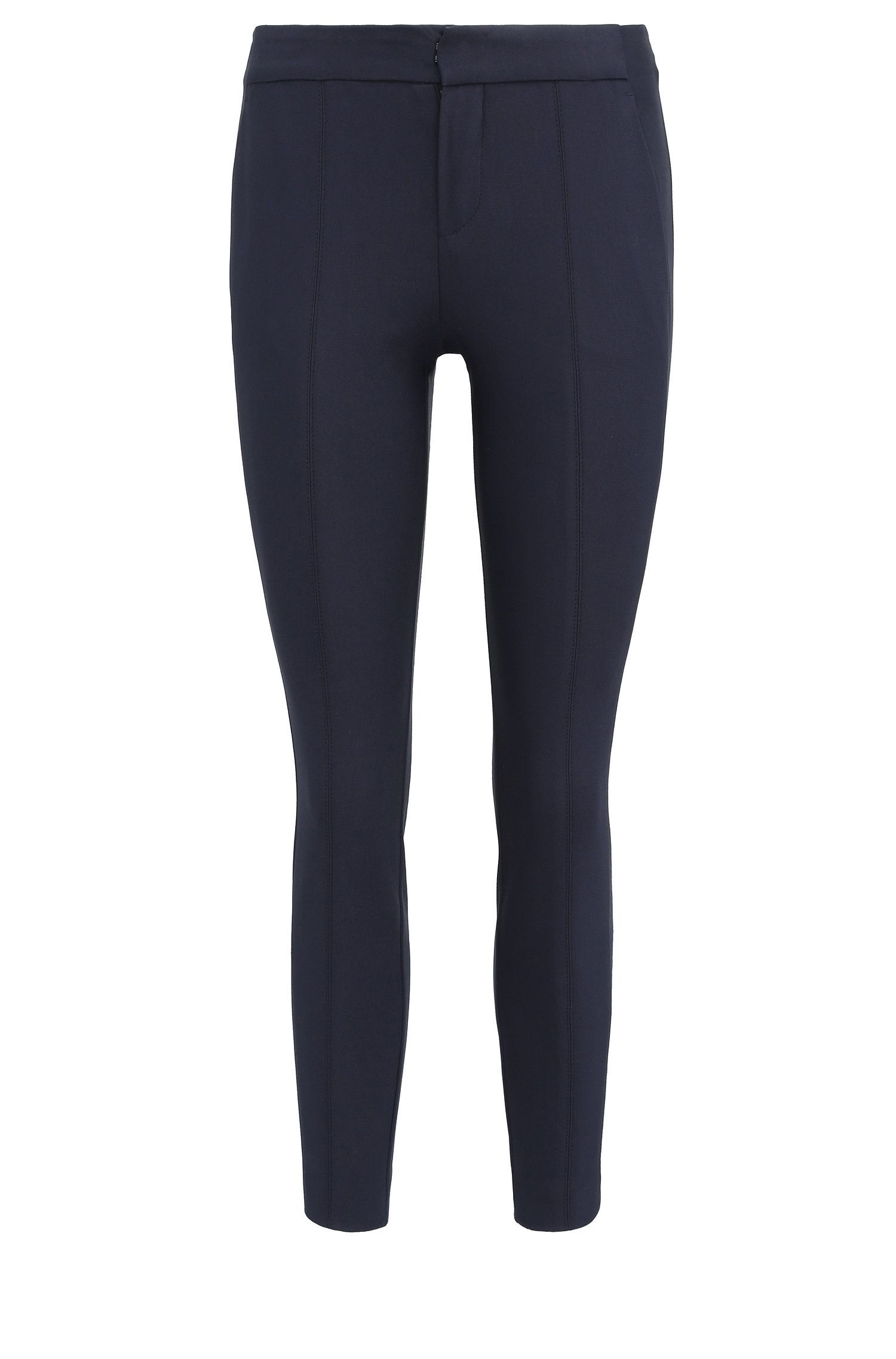 Pantalon Slim Fit en coton extensible : « Sileda1 »