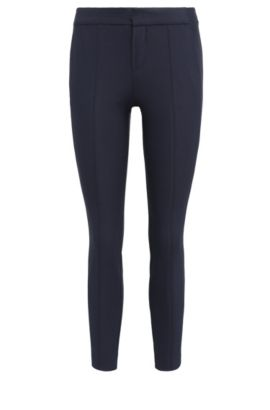 Slim-Fit Hose aus elastischer Baumwolle: ´Sileda1`, Dunkelblau