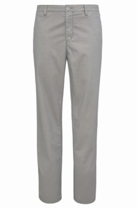 Chinos in stretch cotton: 'B-Crig1-3-W', Light Grey