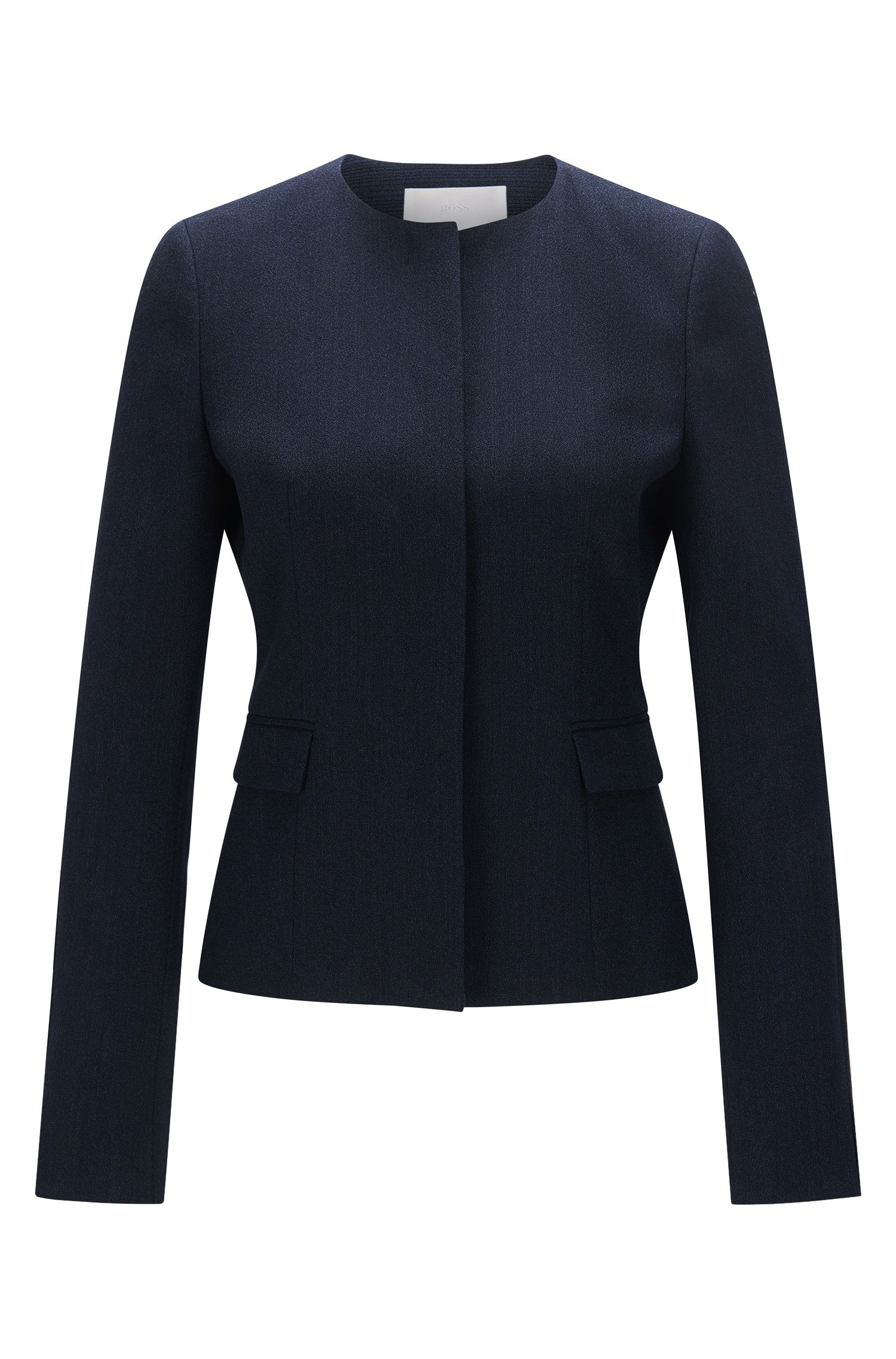 Slim-fit blazer in textured stretch new wool: 'Jalesana1'
