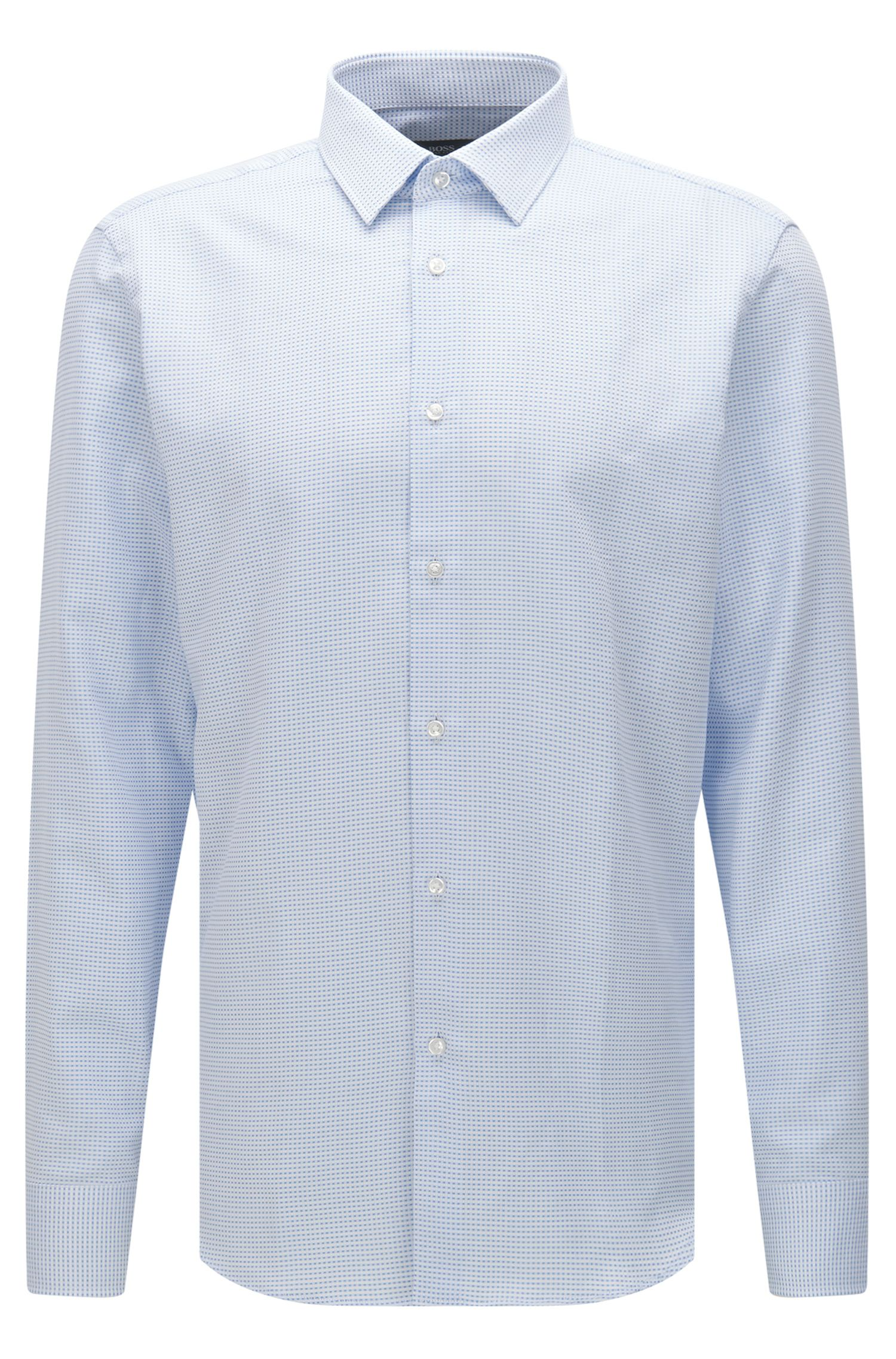 Finely checked regular-fit shirt in cotton: 'Enzo'