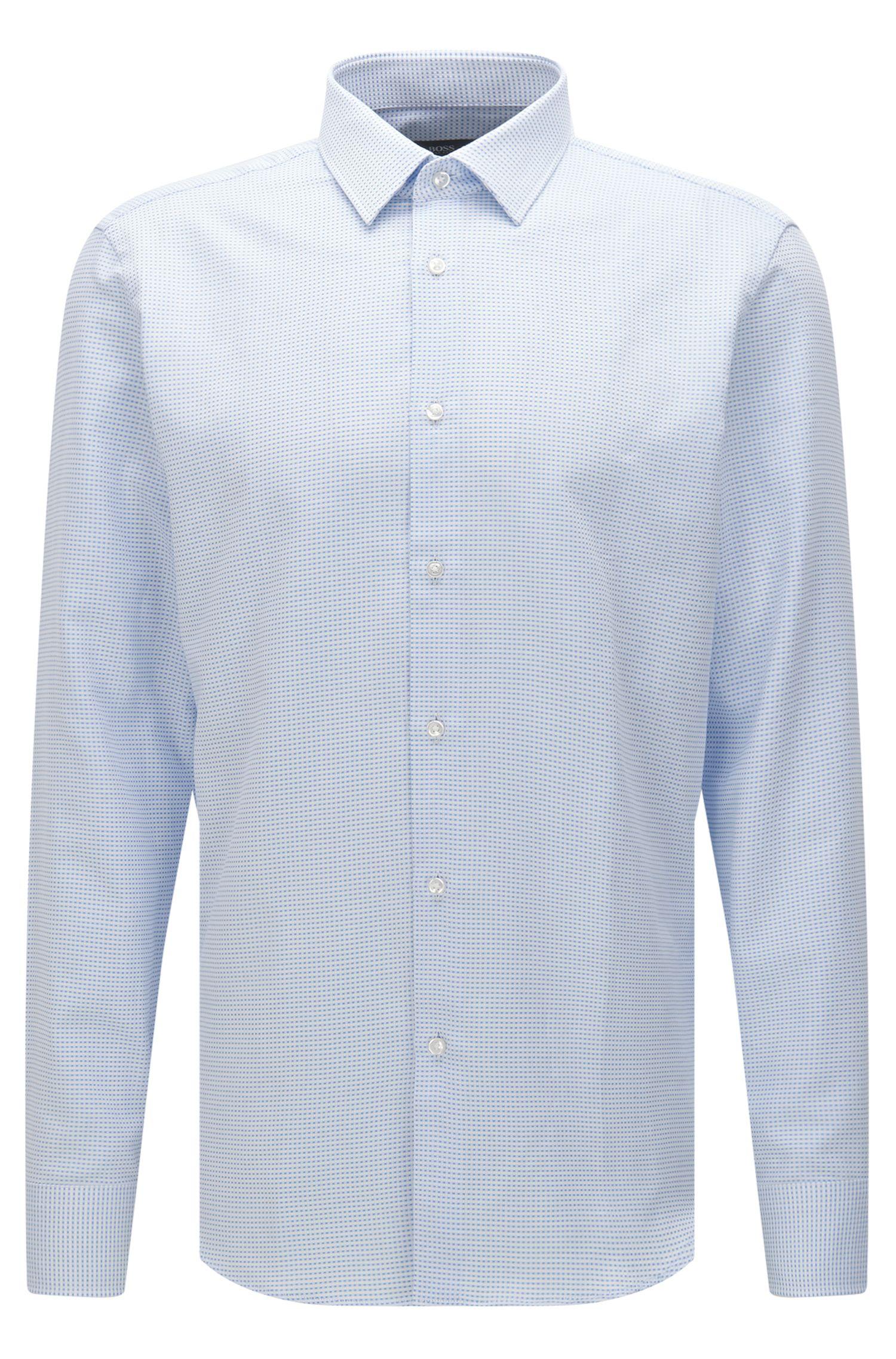 Fein kariertes Regular-Fit Hemd aus Baumwolle: 'Enzo'