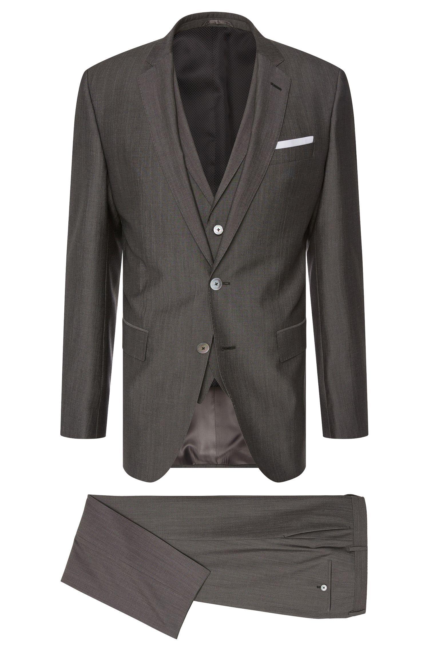 Traje slim fit en mezcla de lana virgen con seda y botones de nácar: 'Hutson4/Gander1 WE'