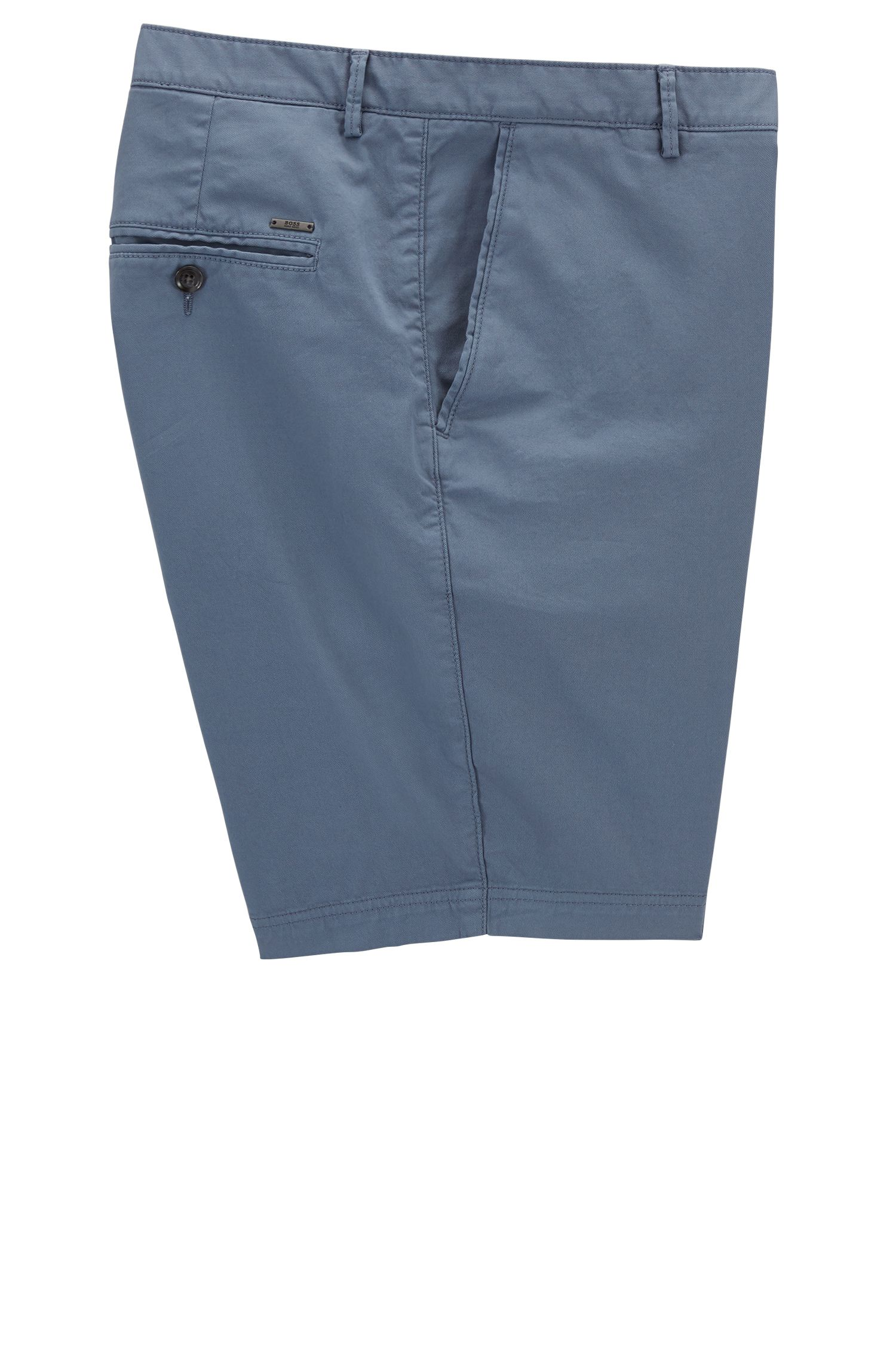 Regular-fit shorts in compact stretch gabardine BOSS