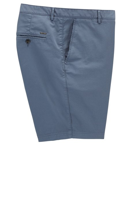 Regular-fit shorts in compact stretch gabardine BOSS 6b9N5f