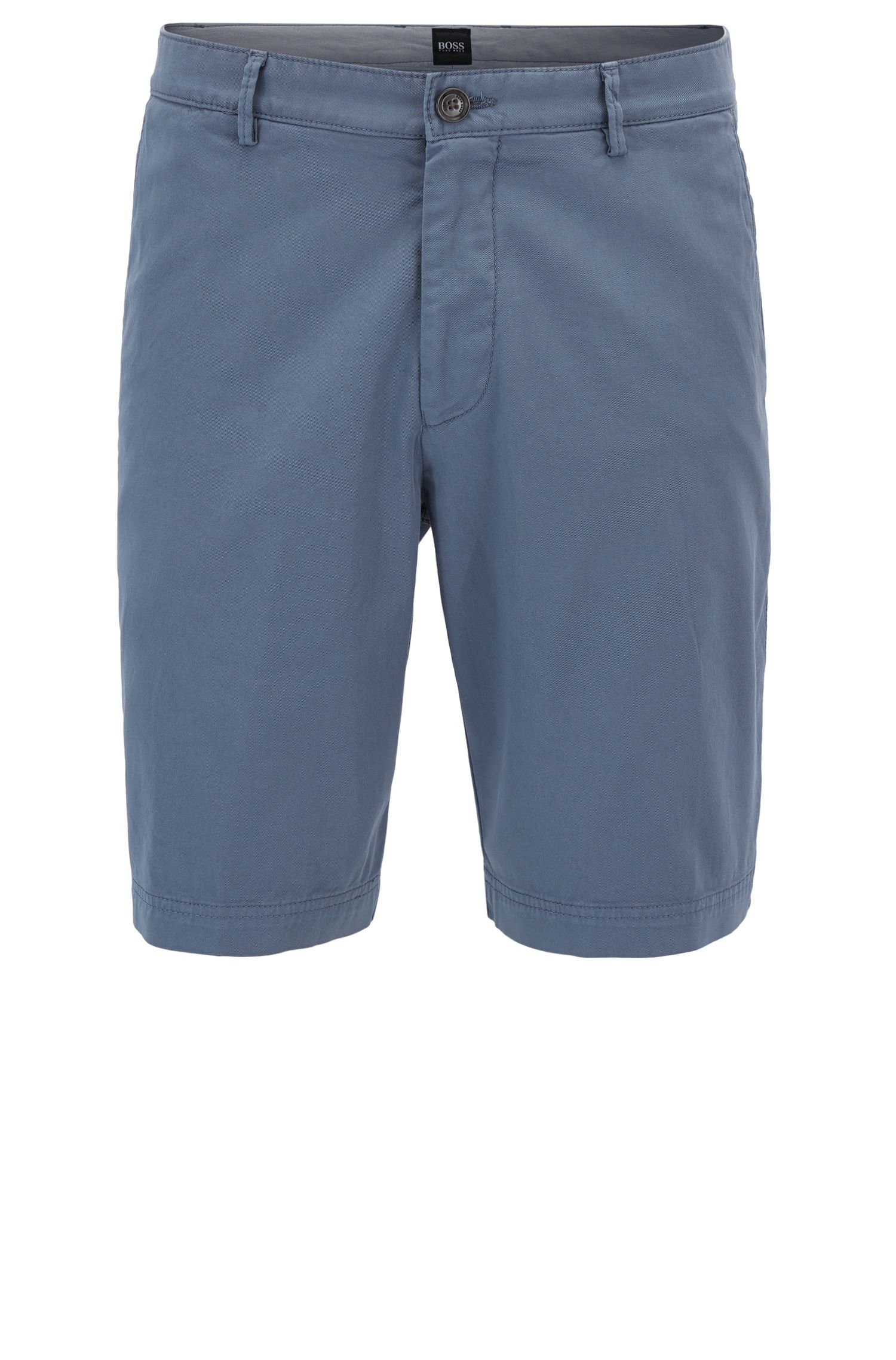 Regular-Fit Shorts aus Stretch-Gabardine