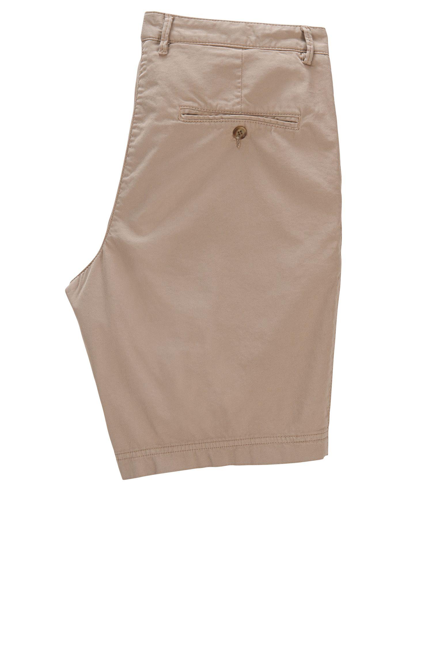 Short Regular Fit en gabardine stretch compacte , Beige clair