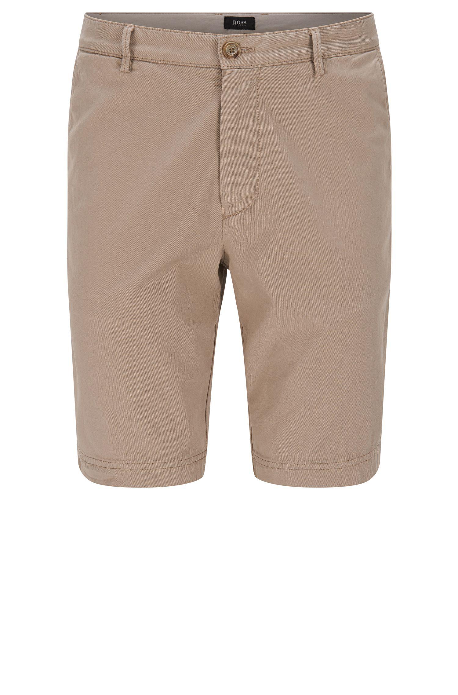Shorts regular fit en algodón elástico: 'Crigan-Short-D'