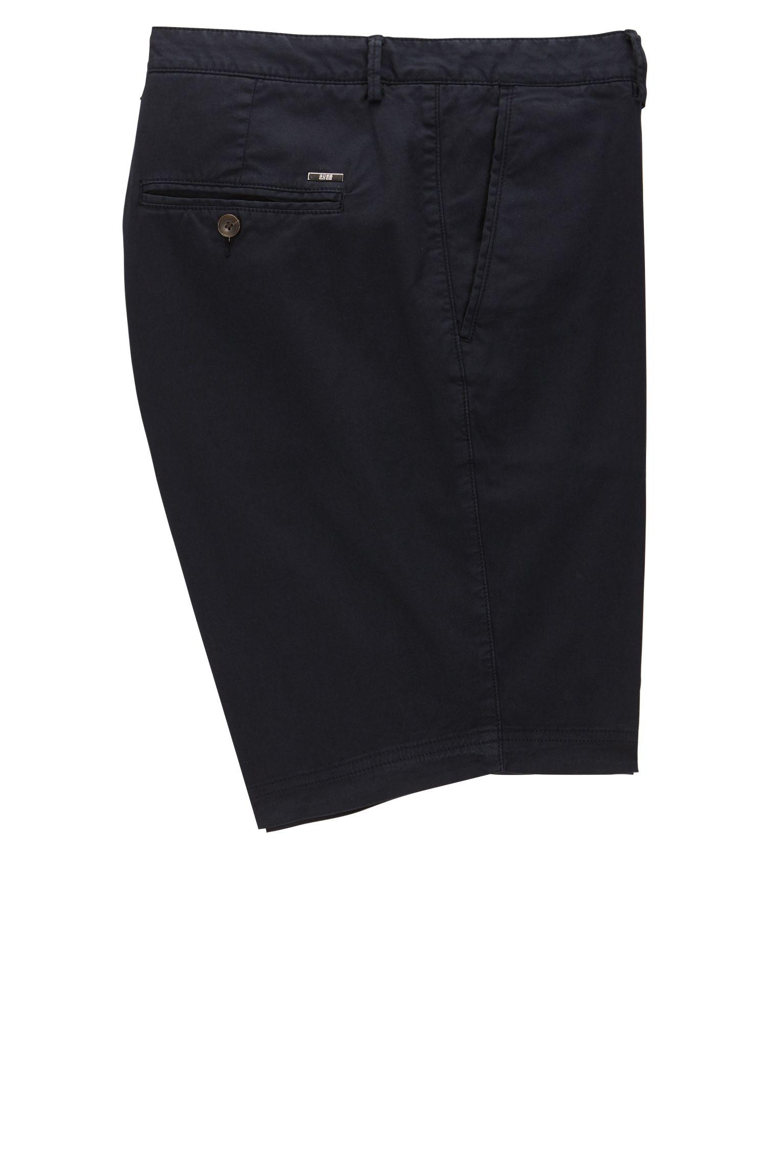 Regular-Fit Shorts aus Stretch-Gabardine , Dunkelblau