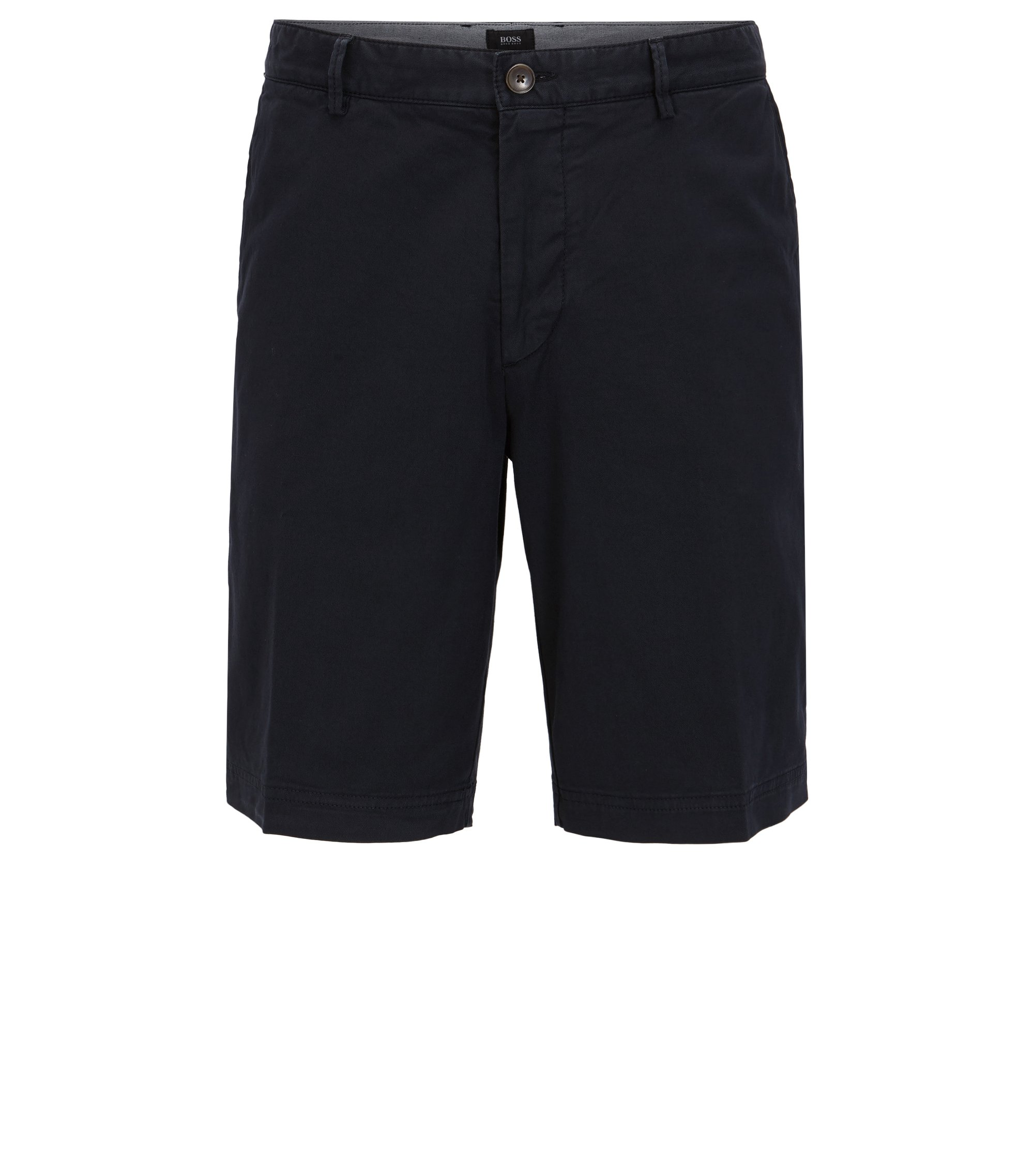 Regular-Fit Shorts aus Stretch-Gabardine , Dunkelblau
