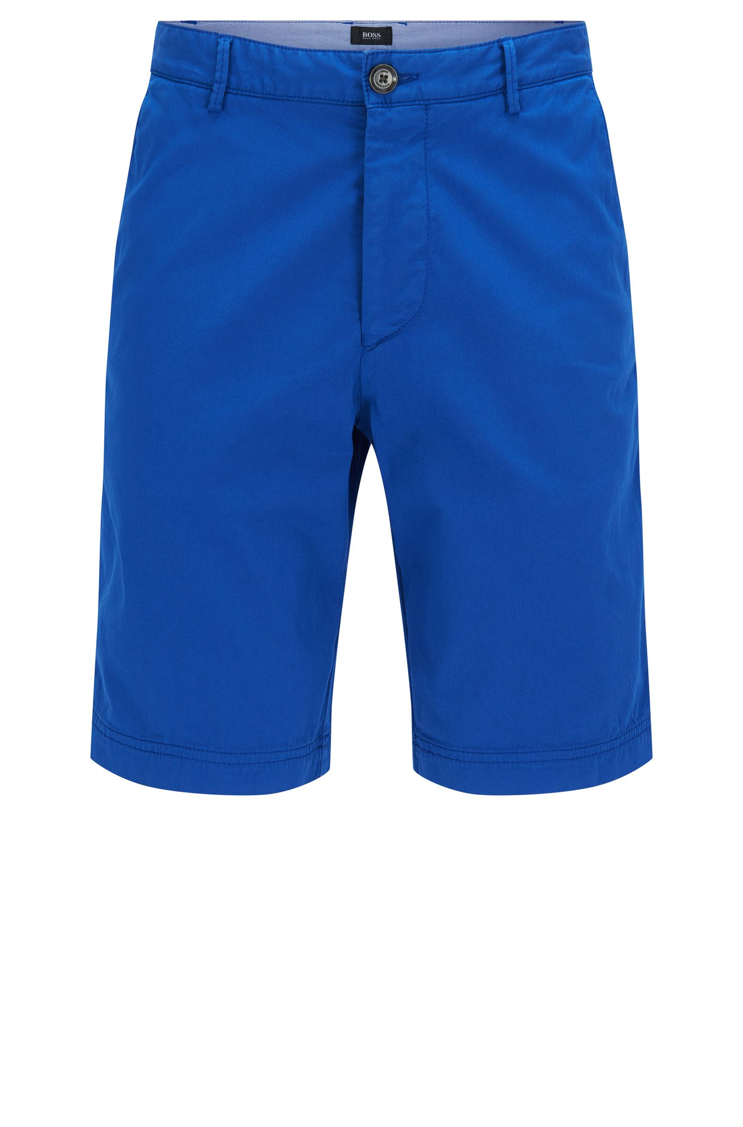 Pantaloncini corti regular fit in cotone elasticizzato: 'Crigan-Short-D'
