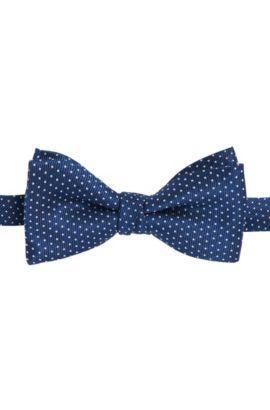 Pajarita de seda con puntos: 'Bow tie fashion', Azul oscuro