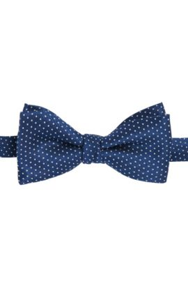 Polka dot pattern bow-tie in silk: 'Bow tie fashion', Dark Blue