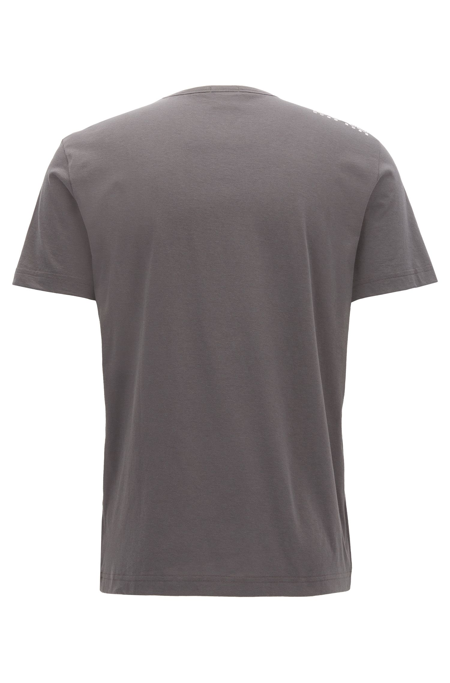 T-shirt Regular Fit en jersey simple, Anthracite