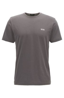 Regular-fit T-shirt in single jersey, Anthracite