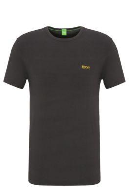 Regular-fit T-shirt in single jersey, Dark Grey