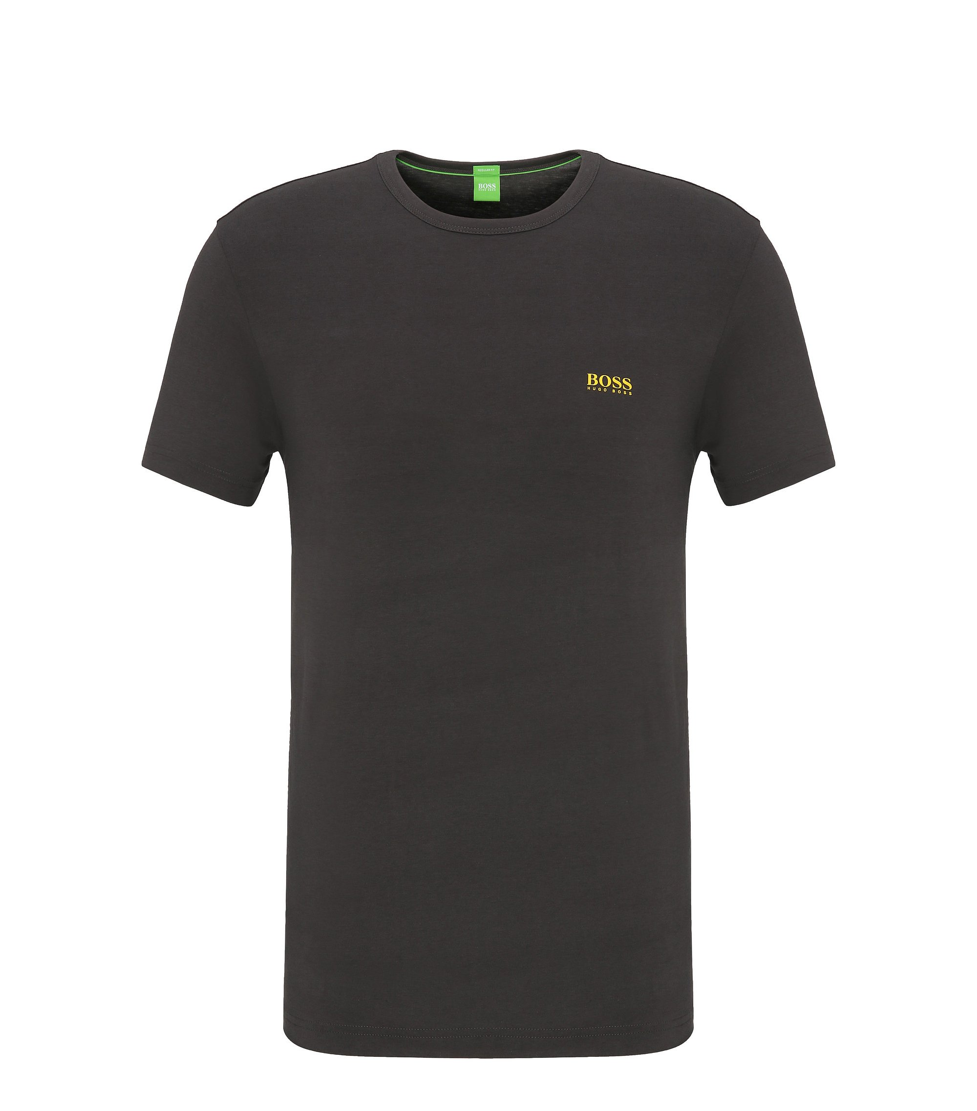 T-shirt Regular Fit en jersey simple, Gris sombre
