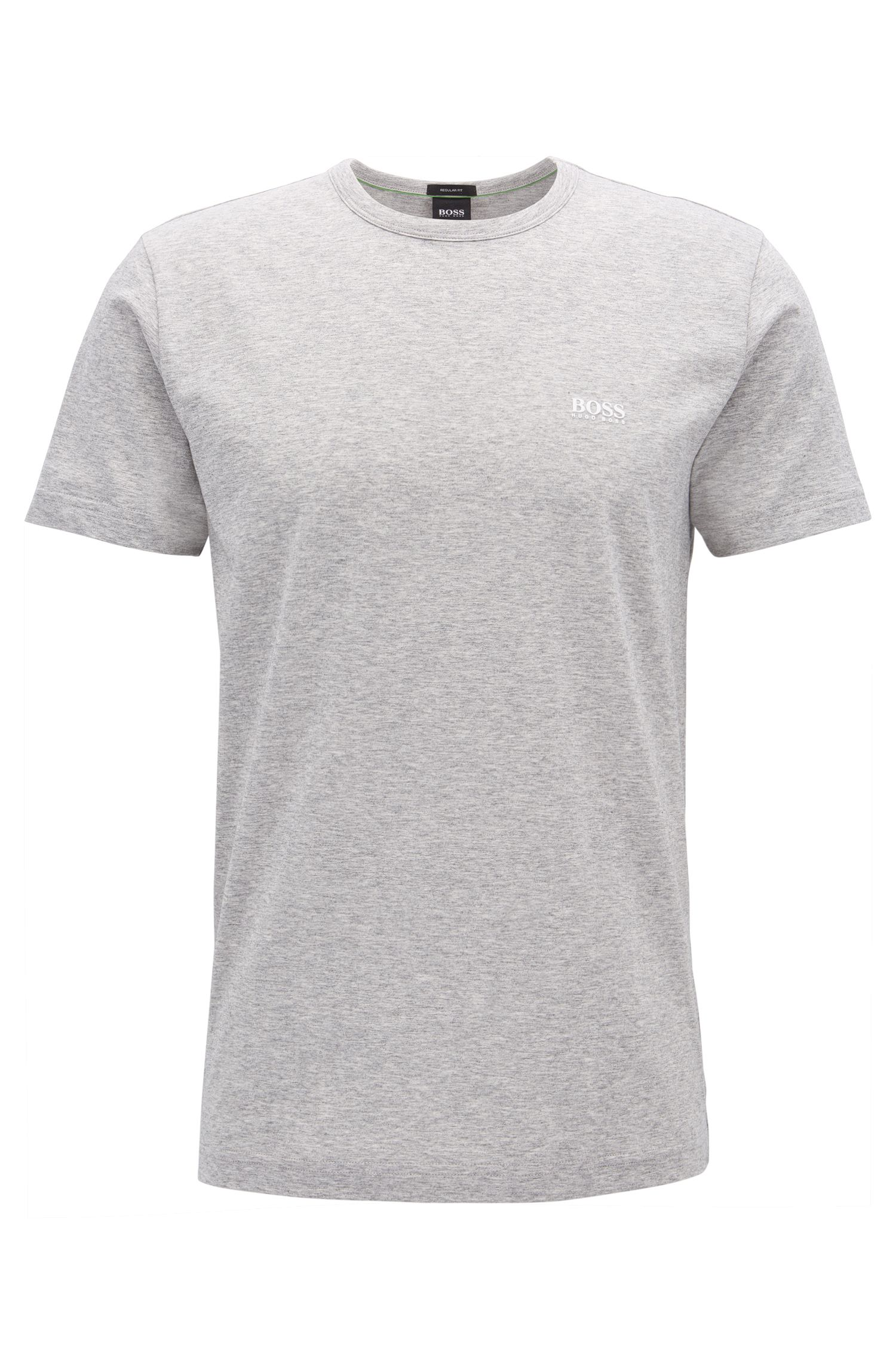 Regular-fit T-shirt in single jersey, Light Grey