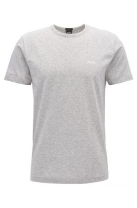 T-shirt Regular Fit en jersey simple, Gris chiné