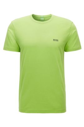 Regular-fit T-shirt in single jersey, Light Green