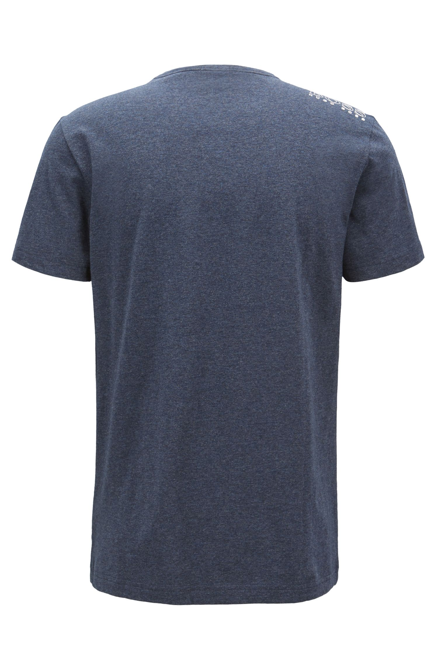 Regular-Fit T-Shirt aus Single Jersey, Dunkelblau