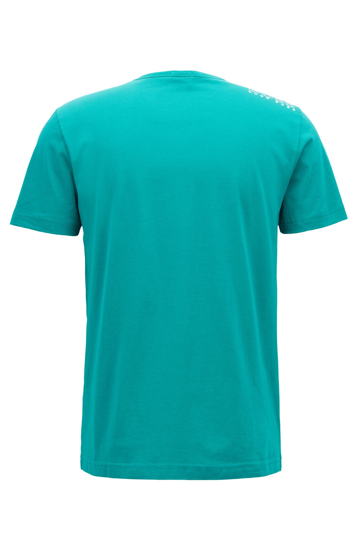 Regular-Fit T-Shirt aus Single Jersey, Grün