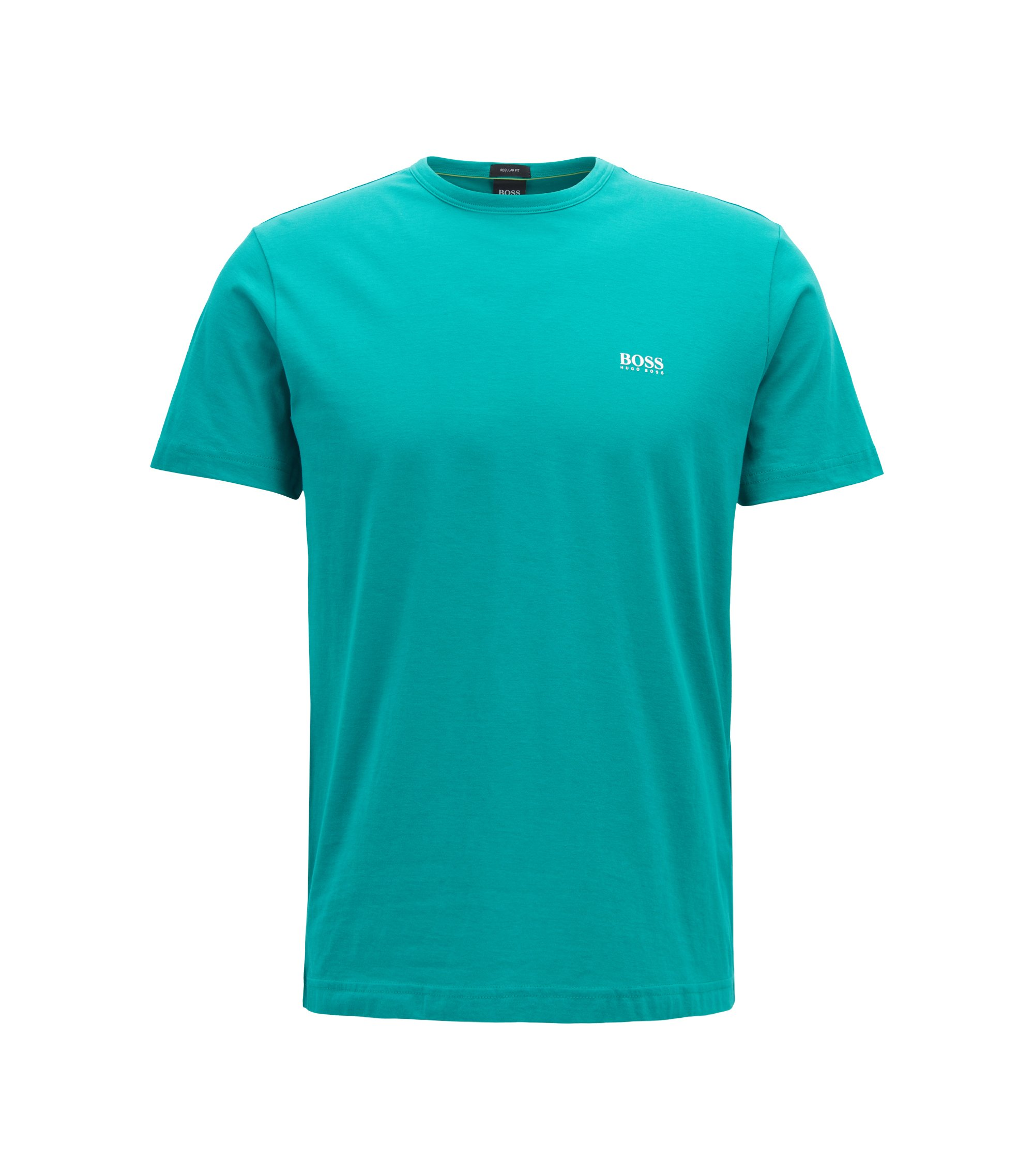 Regular-fit T-shirt in single jersey, Green