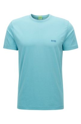 Regular-Fit T-Shirt aus Single-Jersey, Türkis