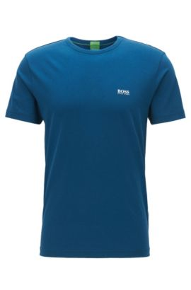 Regular-Fit T-Shirt aus Single-Jersey, Blau