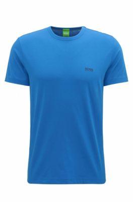 Regular-fit T-shirt van single jersey, Blauw